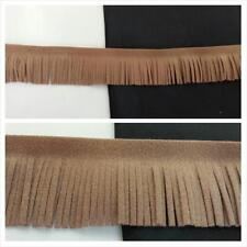 "1 yard light brown fuax suede  fringe 1""SHIP FROM USA great 4 craft upholstery"
