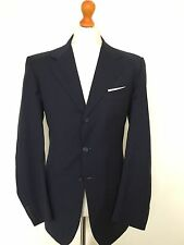 Mens Bespoke Naval Navy Blue Blazer 8 Button Size 38