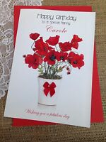 Personalised Card Mother Grandmother Nan Aunt Birthday Friend 50th 70th 80th