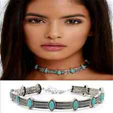 Vintage Boho Chic Ethnic Collar Choker Necklace Statement Bohemian Turquoise TR