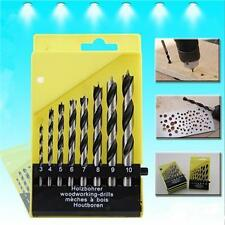 8Pcs Drill Bit Set Wooden Wood Hole Cutter Boring Auger Woodworking Bits 3-10mm