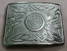 Men's Kilt Belt Buckle Celtic Swirl Knot Silver Finish/Scottish Kilt Buckles