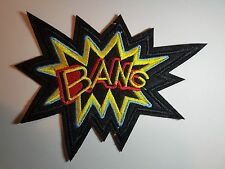 BANG Embroidered Iron On Sew on Patch Transfer Comic Book Super Hero Transfer