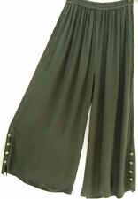 TIENDA HO~Squid Ink/Gray~MOROCCAN COTTON~Palazzo Pants~Soft~Drape~WIDE LEG~OS