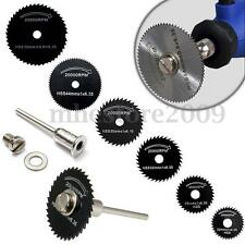 7pc HSS Circular Wood Cutting Saw Blade Discs Mandrel Kit for   Rotary Tool