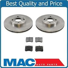 for 99-03 Ford Escort Front Brake Disc Rotor Rotors & Ceramic Pads 5474 CD473