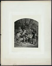 FOC DARLEY SIGNED Antq&Rare 19thC 1884 Photogravure Shakespeare's AS YOU LIKE IT