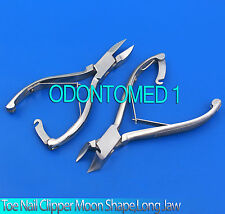 Toe Nail Clipper Moon Shape and Long Jaw with Lock New