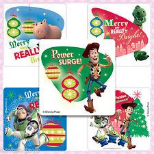 Toy Story Christmas Stickers x 5 -Woody/Buzz - Party, Reward, Stocking Stuffers