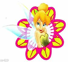 "4"" DISNEY TINKERBELL FAIRY IN A FLOWER FABRIC APPLIQUE IRON ON"