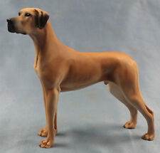 deutsche dogge figur hund North light hundefigur great dane alabaster gelb