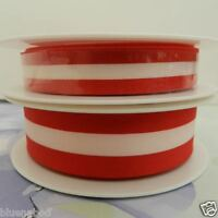 per 2 metres Red & white triest Austrian Hungarian flag colours 15mm 25mm widths