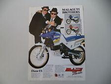advertising Pubblicità 1989 MOTO MALAGUTI DUNE ES 50