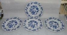 SET OF FOUR BLUE DANUBE BLUE ONION BREAD & BUTTER PLATES RECTANGLE MARK