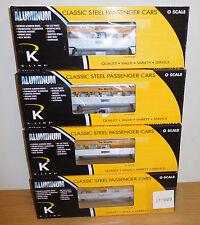 """K-LINE K-4621A RIO GRANDE RG ALUMINUM 15"""" PASSENGER TOY TRAIN 4 CAR SET O SCALE"""