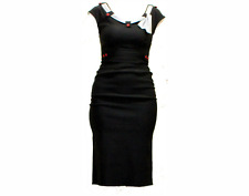 Stop Staring Clothing dress mod rockabilly retro punk pinup Bettie Page M black