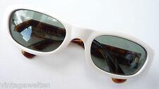 Polarisierende Sonnenbrille Inkognito extravagant ausgefallen weiß mit Hornoptik