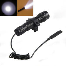 5000Lm CREE T6 LED Tactical Hunting Flashlight Torch Mount Light Rifle Gun Rail
