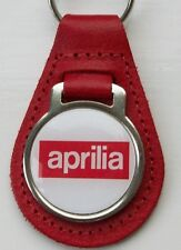 APRILIA RED LEATHER KEYRING, KEY CHAIN, KEY FOB