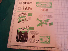 vintage 1950's Instructor kindergarden number POSTER #2 QUARTER DOLLAR