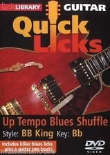 LICK LIBRARY Learn to Play QUICK LICKS BB KING Up Tempo Blues Shuffle GUITAR DVD