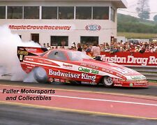 KENNY BERNSTEIN 1989 BUDWEISER BUICK NHRA FUNNY CAR 8X10 PHOTO MAPLE GROVE PA