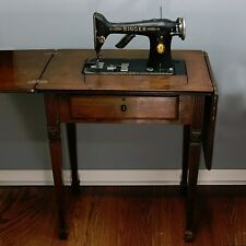 PARTS or REPAIR Vtg 1926 Singer 101 Electric Sewing Machine Wood Cabinet Table