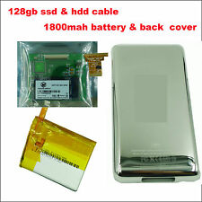 128GB SSD & 1800MAH for Apple Ipod classic 80gb 120gb 160gb Hard Disk Drive HDD