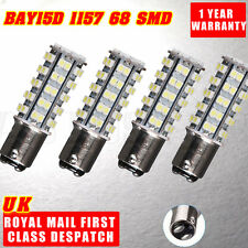 4x Car 1157 BAY15D P21/5W 380 68 SMD LED Light Bulbs Tail Brake Stop Light 12V