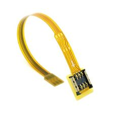 Micro SIM Card to Nano SIM Kit Male to Female Extension Soft Flat FPC Cable 10cm