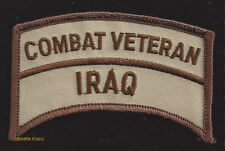 IRAQ WAR COMBAT VETERAN OIF HAT PATCH US ARMY MARINES NAVY AIR FORCE USCG WOW