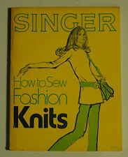 HOW TO SEW FASHION KNITS Singer Sewing Company, Fun Collectible Vintage Patterns