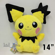 "Pokemon Plush Pichu Spiky-eared Soft Toy Stuffed Animal Doll 14""  VERY BIG 35CM"