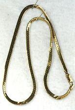 USED ITALIAN 18K GOLD CHINI BREV HERRINGBONE CHAIN NECKLACE 750 ITALY 15.5 GRAMS
