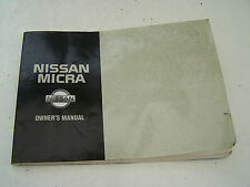 Nissan Micra (1997-2000) Owner`s Manual