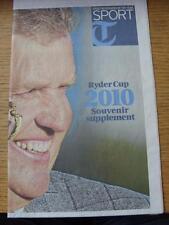 06/10/2010 golf: ryder cup 2010 souvenir supplément, le daily telegraph (plié