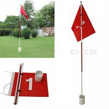 Practice Putting Green Flagstick Backyard Golf Hole Pole Cup Flag Stick 3Section