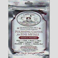 "New! 2pk CAPE COD Fine Metal Polish 4""x 6"" Cloth Scratch Removal Watches Jewelry"