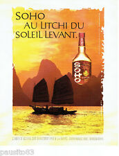 PUBLICITE ADVERTISING 056  2004   Soho   liqueur au Litchi