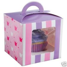 12 Princess Single Cupcake Muffin Boxes Holder Container Party Favor Supply