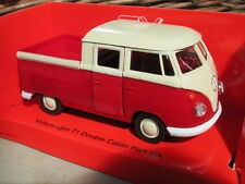 vw bus combi volkswagen T1 double cabine pick up, métal, 11,5cm, rouge, neuf