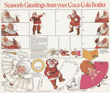 2,VINTAGE COCA COLA Premium SUNDBLOM Santa Claus Christmas Gift Tags Decorations