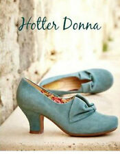 NEW HOTTER DONNA SUEDE SHOES. AQUA. SIZE 7.5. 7 1/2 EXF WIDE FIT. RRP £85. BNWB