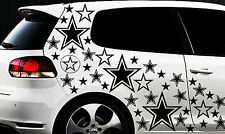 93 Sterne Star Auto Aufkleber Set Sticker Tuning Hibiskus Wandtattoo Tribel Star