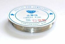 40 METRES OF 0.25MM COPPER BEADING JEWELLERY CRAFT CRAFTERS WIRE - SILVER