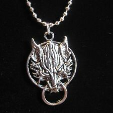 Official Final Fantasy VII Cloud Wolf Pendant Silver Plated Necklace Video game