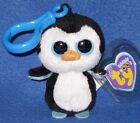 TY BEANIE BOOS CLIP - WADDLES the PENGUIN CLIP - MINT with MINT TAG