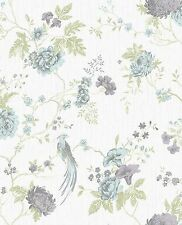 Tapete Vlies Floral creme blau Graham & Brown Glitterati 32-957 (5,43€/1qm)