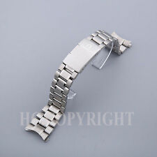 New 20mm HEAVY SOLID LINK Stainless Steel Mens Watch Strap Bracelet Fit O mega
