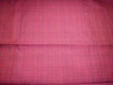 tissu coupon ameublement haut de gamme LELIEVRE tissage rouge NEUF
